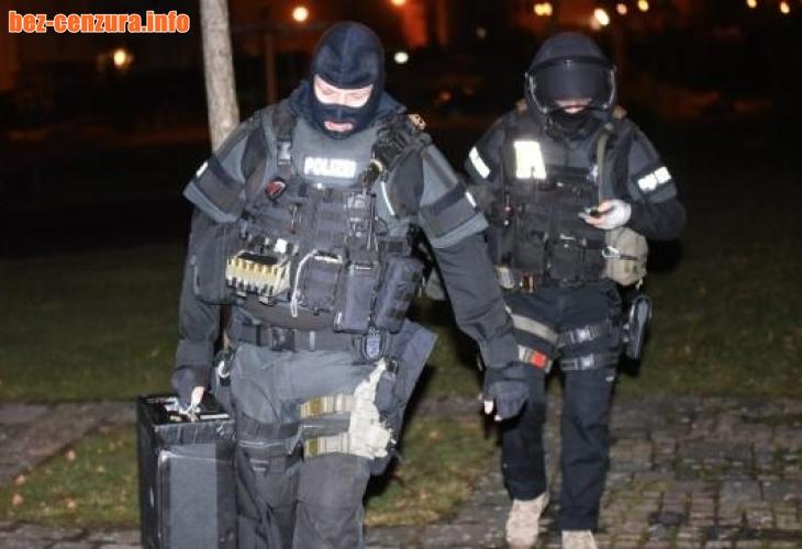 В Германия е като на война: Над 1000 полицаи громят тази сутрин мощна терористична ислямистка групировка в Хесен