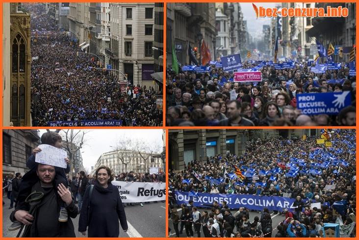 Над 160 000 казаха ДА на мигрантите в Барселона