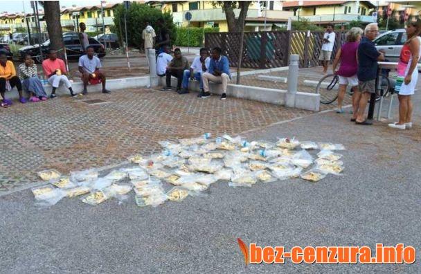 Нелегални имигранти изхвърлиха храна с крясъци, не била вкусна! Стефан Пройнов