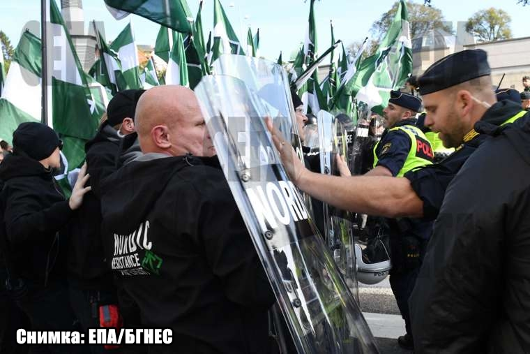 Неонацисти и антифашисти се сбиха в Швеция